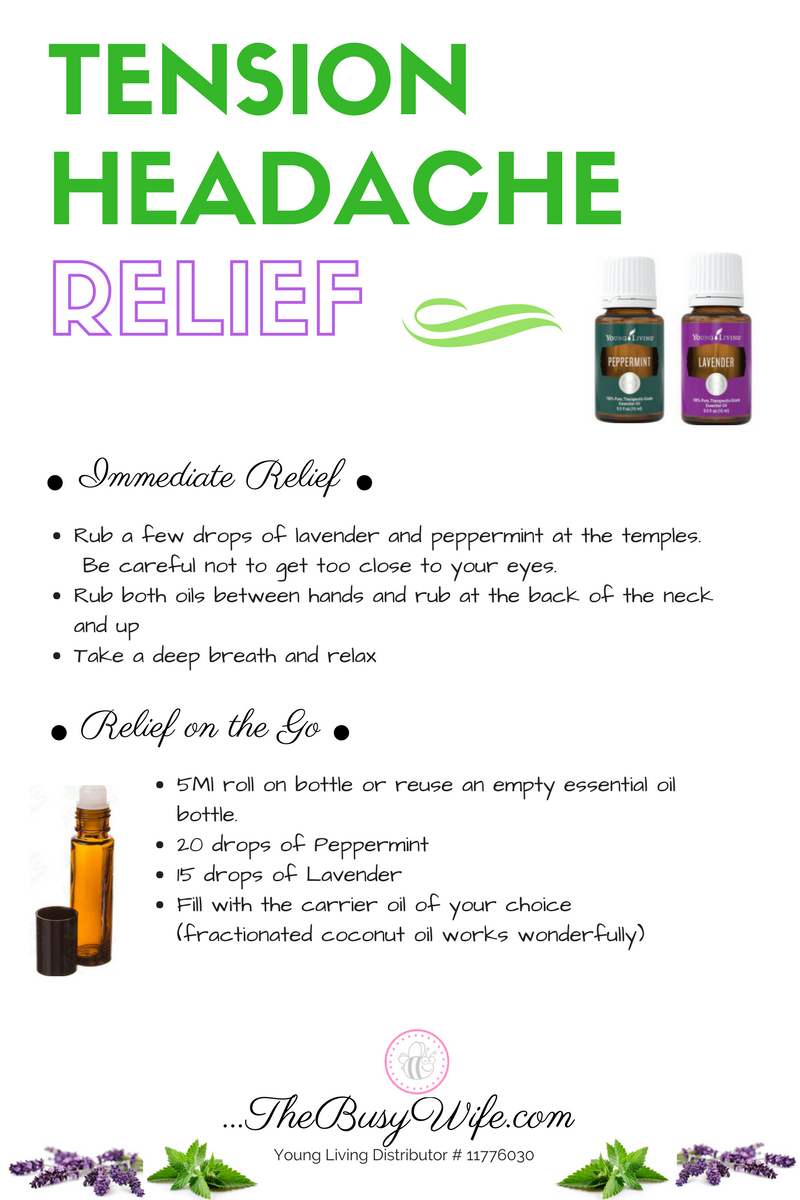 Essential Oils For Headache Relief The Busy Wife