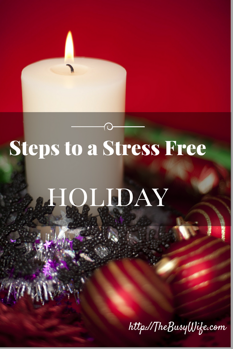 Steps to a stress free holiday