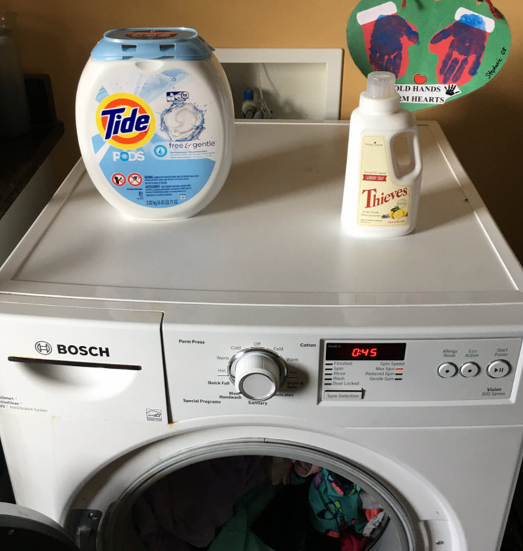 Swapping out my laundry pods for Thieves Laundry Soap