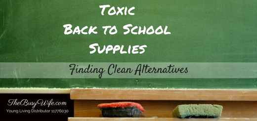 Toxic Back to School Supplies: Finding clean alternatives
