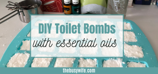 DIY Toilet Bombs With Essential Oils