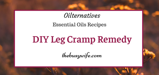 DIY Leg Cramp Rub with Essential Oils