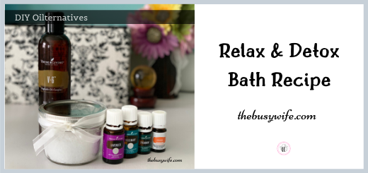 Relax and Detox Bath Recipe with essential oils