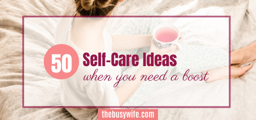 50 Self-care ideas when you need a boost