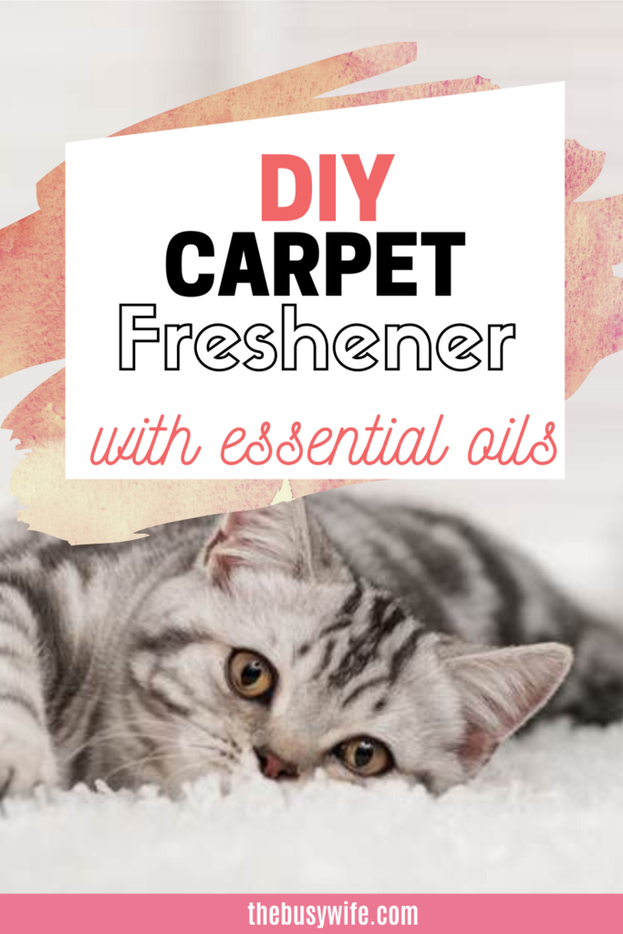 DIY Natural Carpet Freshener with Essential Oils