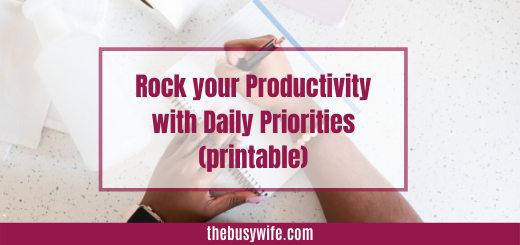 Why I use a Daily Priority Sheet