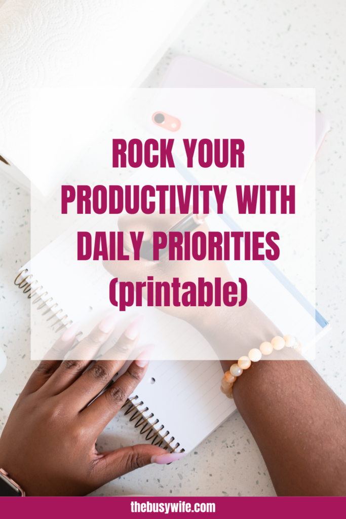 Rock your productivity with daily priorities