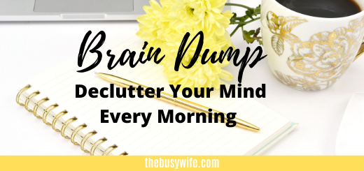 MORNING BRAIN DUMP TO DECLUTTER YOUR MIND