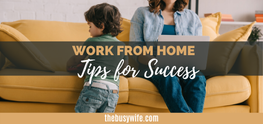 Tips for Working From Home Success