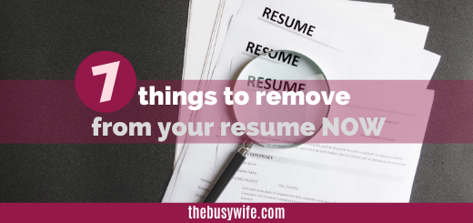 7 Things to Drop from your resume TODAY
